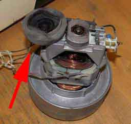 Motor mit Gummidämpfung
